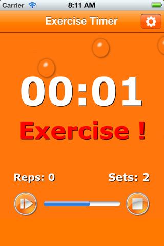 ExerciseTimer screenshot one