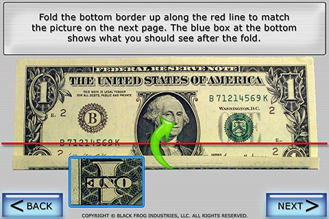 Dollar Ring Origami screenshot-2