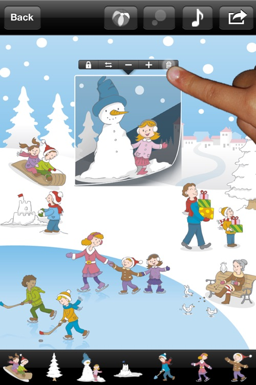 123 Sticker: Free Musical Sticker Book (Christmas Edition)