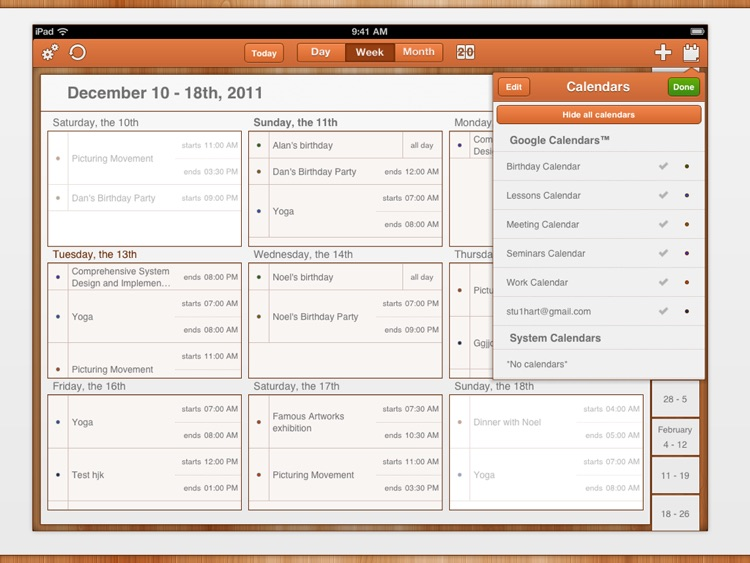 GoCal for Google Calendar™ HD screenshot-3
