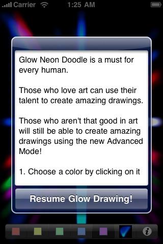 Glow Neon Doodle Lite screenshot-4