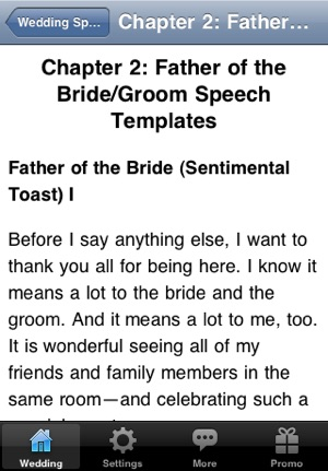 Wedding Speeches for the Father of the Bride and Groom on the App Store