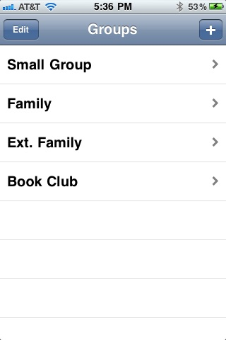 Contacts Groups Free