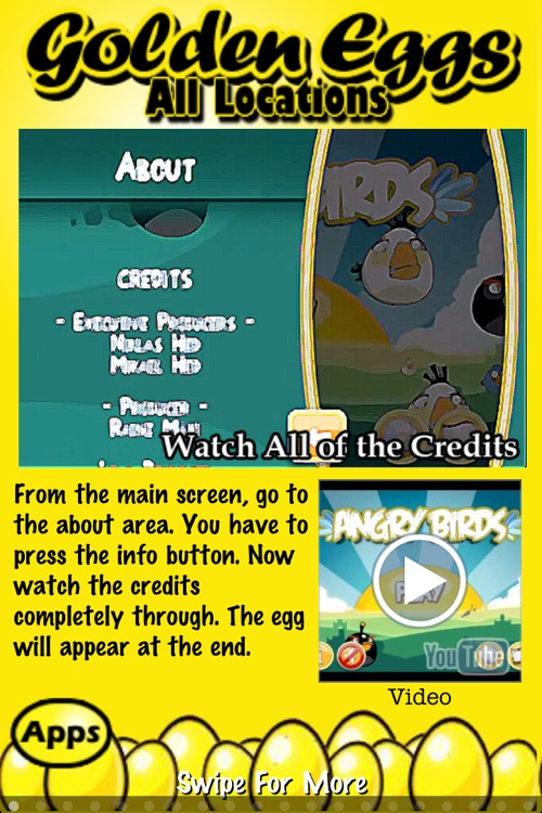Free Golden Eggs for Angry Birds ~ An easy guide and walkthrough of the hidden golden egg locations in Angry Birds