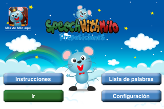 (Spanish) Speech with Milo: Prepositions screenshot one
