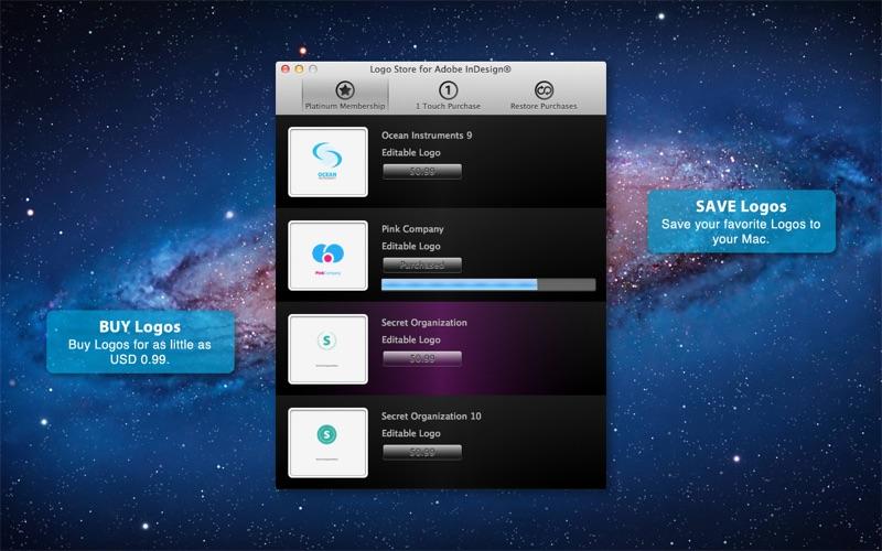 Logo Store for Adobe InDesign Screenshot