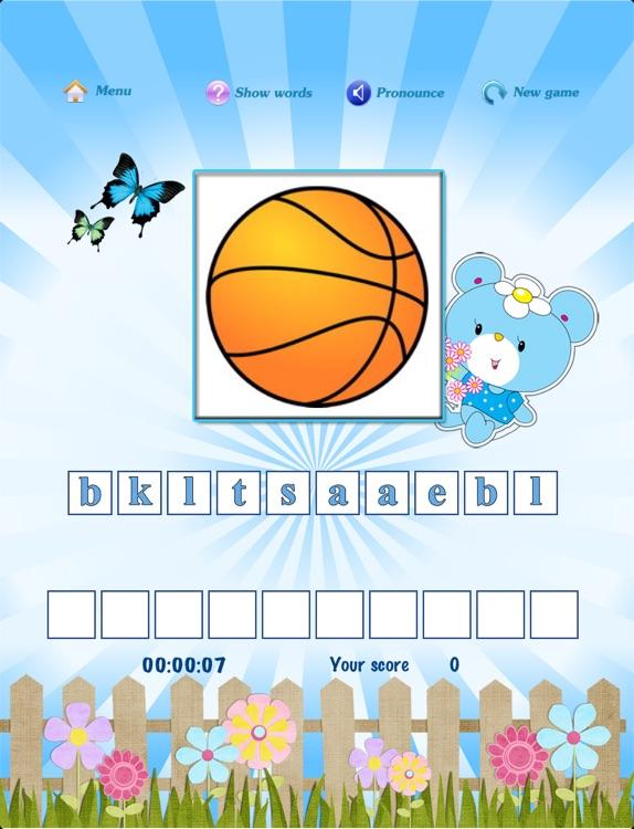 Free kids scramble word game screenshot-4