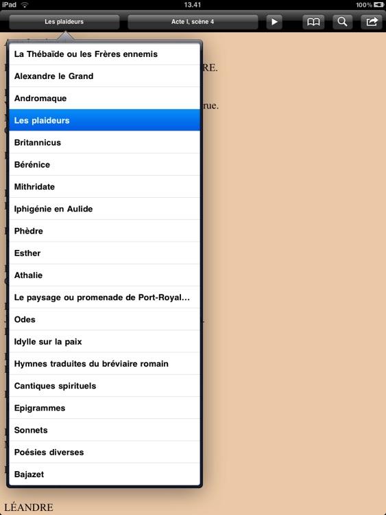 Racine: Théâtre et poésies complètes for iPad