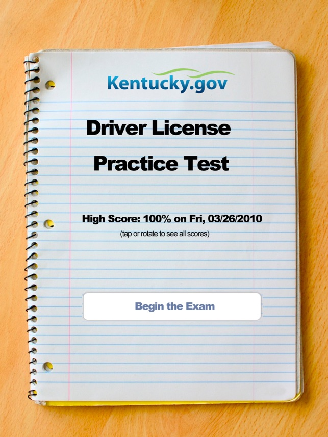 kentucky drivers license practice test