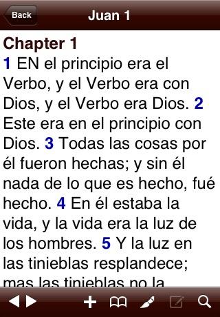 RVA Spanish Bible (Biblia Español) screenshot one