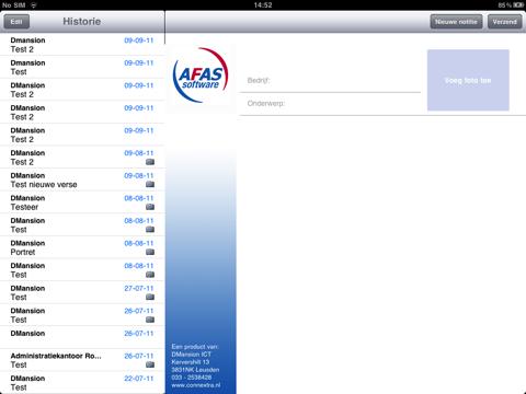 Bezoekverslag AFAS - App voor iPhone, iPad en iPod touch - AppWereld