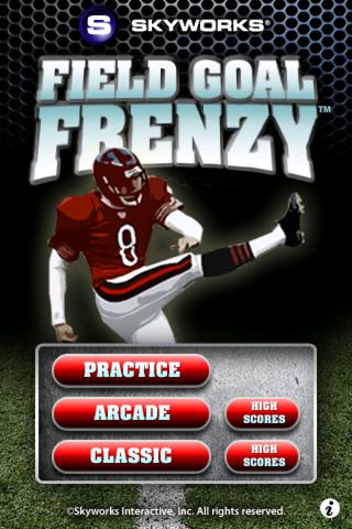 Field Goal Frenzy™ Football - The Classic Arcade Field Goal Kicking Game screenshot 1