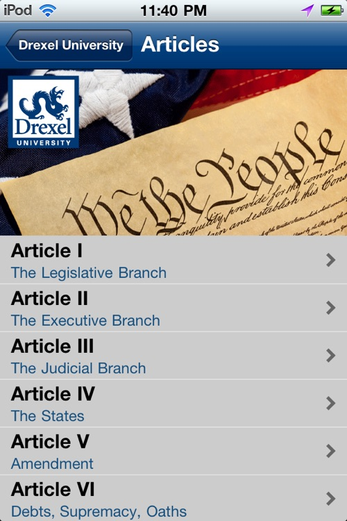 Drexel University U.S. Constitution screenshot-2