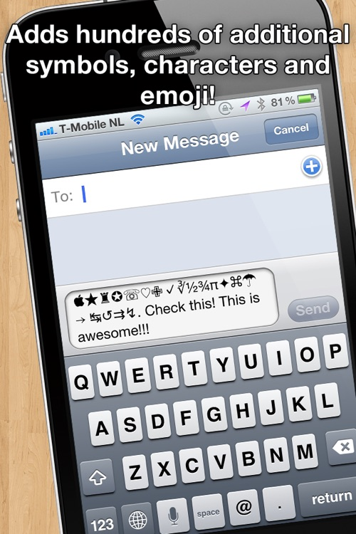 Characters 2012 - extra symbols, emoji and ascii chars screenshot-0
