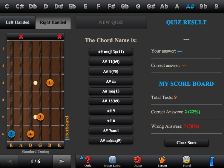 Guitar Chords, Triads & Quiz screenshot-3