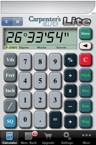 Carpenter's Helper Lite - Free Construction Calculator screenshot-4