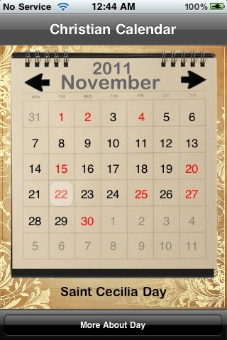 Christian Calendar screenshot-0