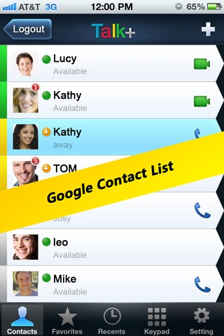 Talkx GTalk Video Call, Google Voice Phone Call+SMS