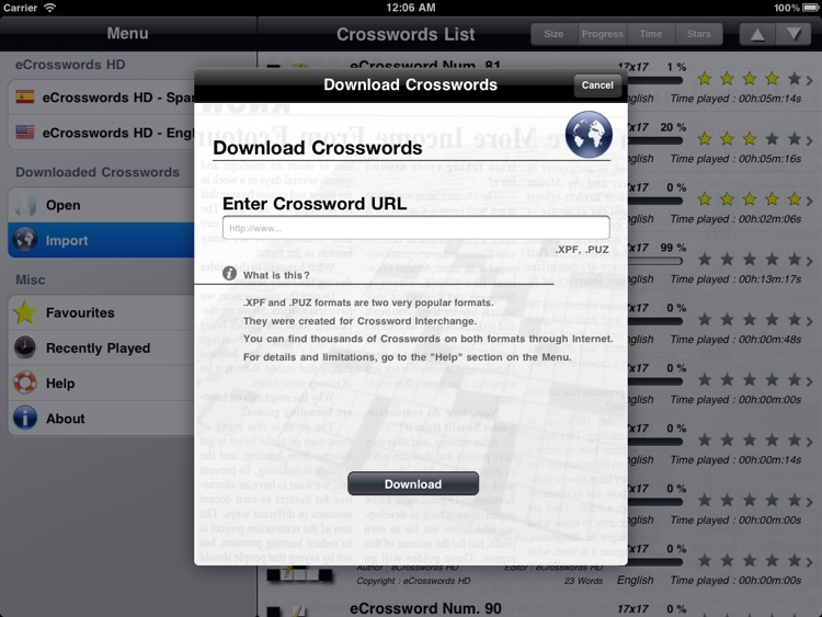 eCrosswords Lite screenshot-4