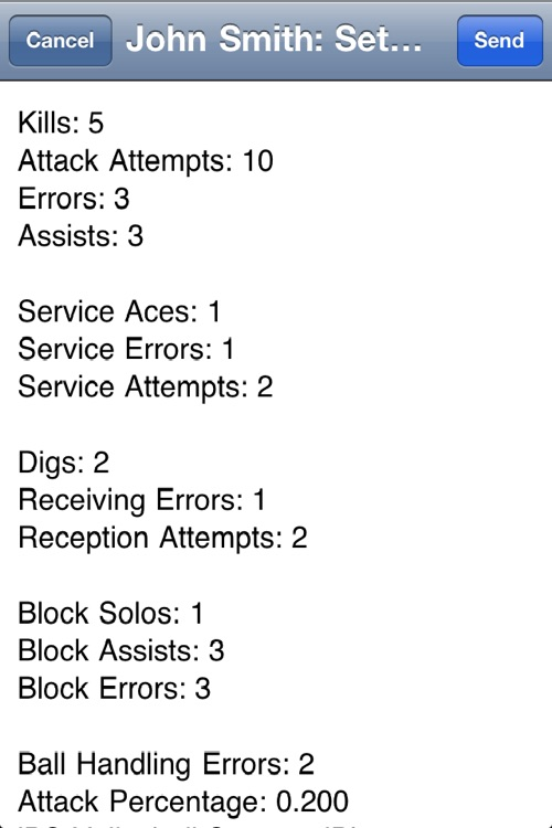 iPS Volleyball Stats