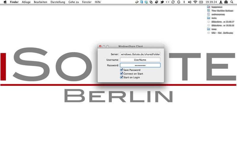 WindowsShare Client Screenshot