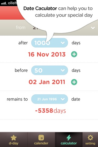 Date calculator - D-Day screenshot-4