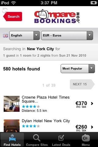 Compare Bookings
