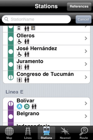 Subway Map Of Buesnos Aries Olleros Station.Buenos Aires Subway On The App Store