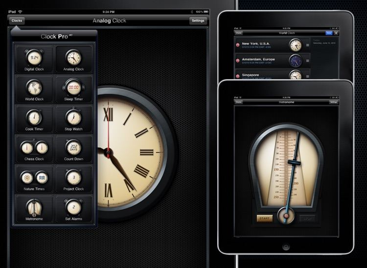 Clock Pro HD screenshot-3