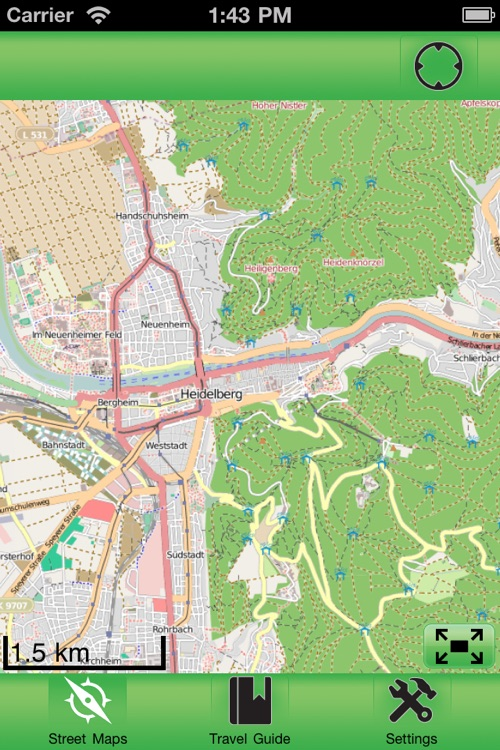 Heidelberg Offline Street Map
