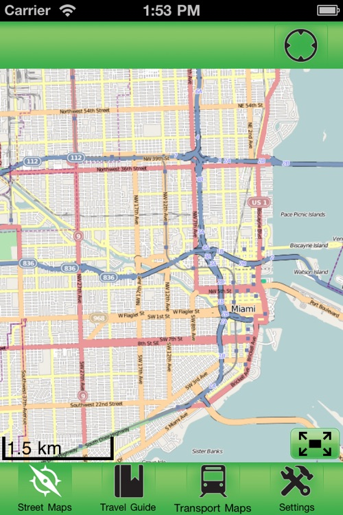 Miami Offline Street Map