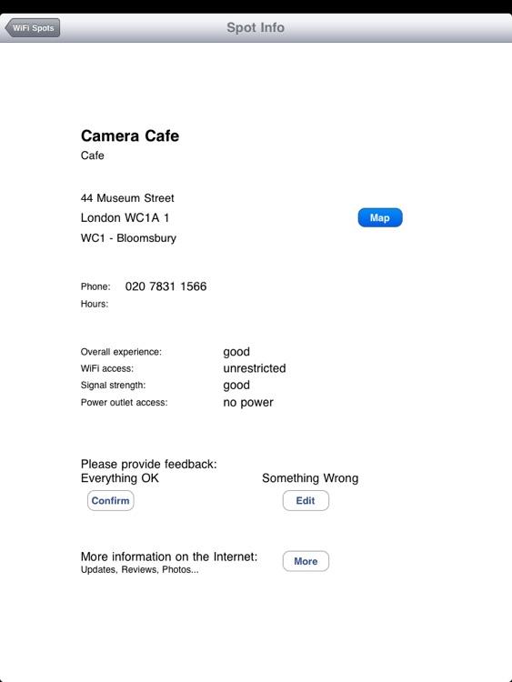 London Free WiFi for iPad