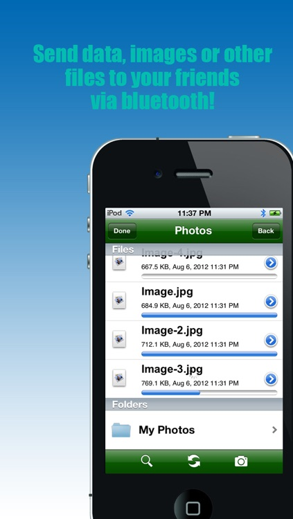 "Bluetooth - ""Transfer photos & files via bluetooth (For iPhone, iPod & iPad)"" screenshot-3"