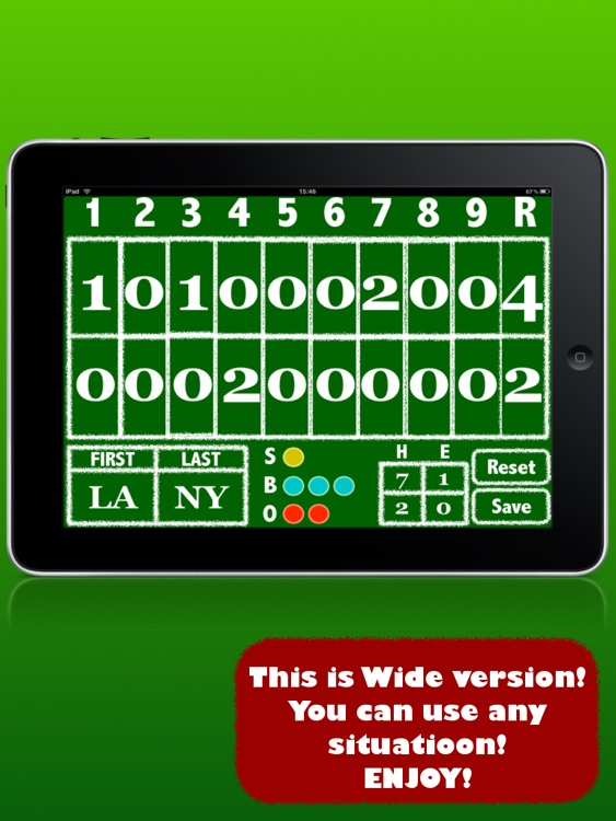 BIGSCORE: Baseball Scoreboard screenshot-2