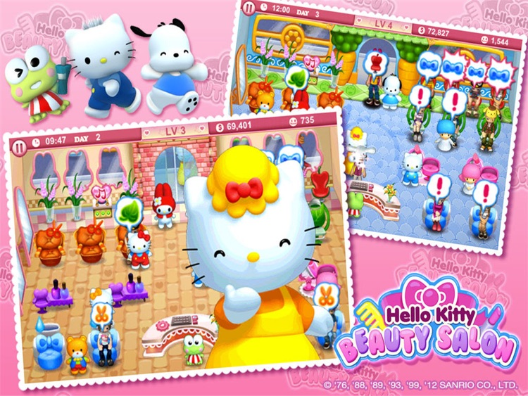 Hello Kitty Beauty Salon HD screenshot-3
