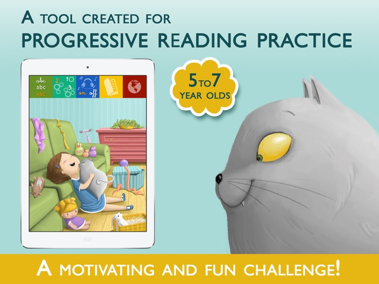Teach me to read – Ferocius & Meows Cat, an Educational Montessori Tool with Activities and Books for Learn to Read screenshot-0