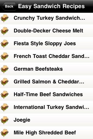 Easy Sandwich Recipes screenshot-3