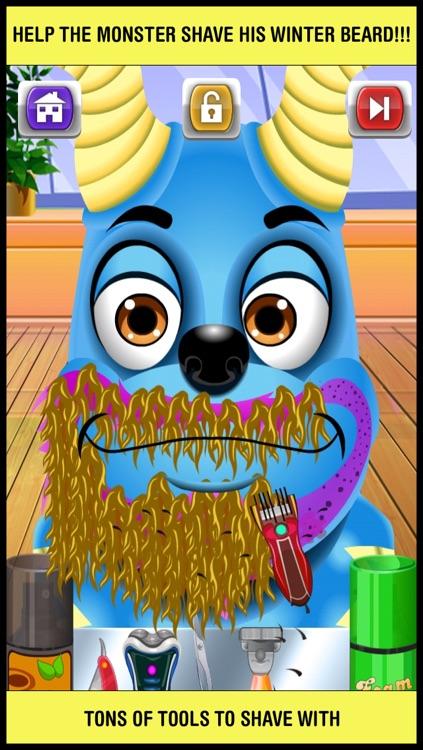 Baby Monster Shave & Makeover Salon - crazy little skin hair doctor shaving spa games for kids
