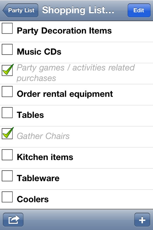 Party Planning List screenshot-2