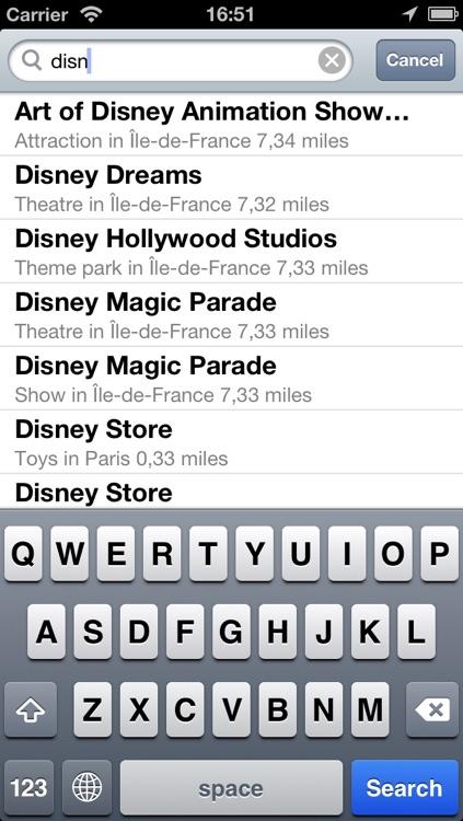 Paris + Disneyland Paris Offline Map screenshot-4