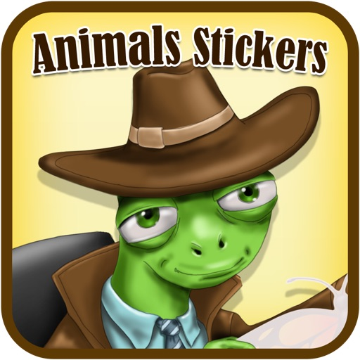 Animals Card Designer -  Create cards using animals stickers