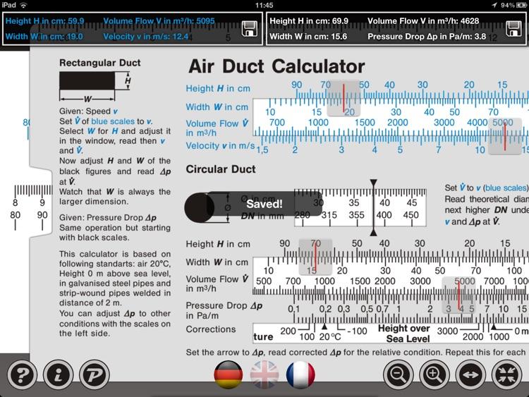 Air Duct Calculator IWA 42 006