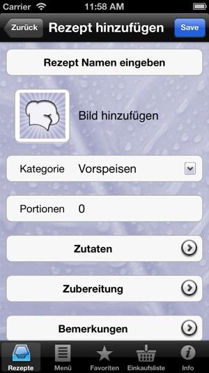 Mein Kochbuch Manager im App Store