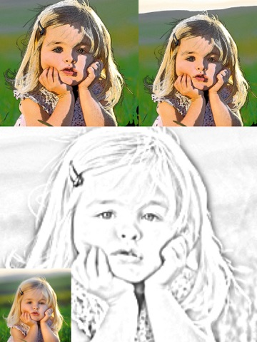 Screenshots of Cartoon Camera Free - univision Sketch Effects In Cam Photo for iPad