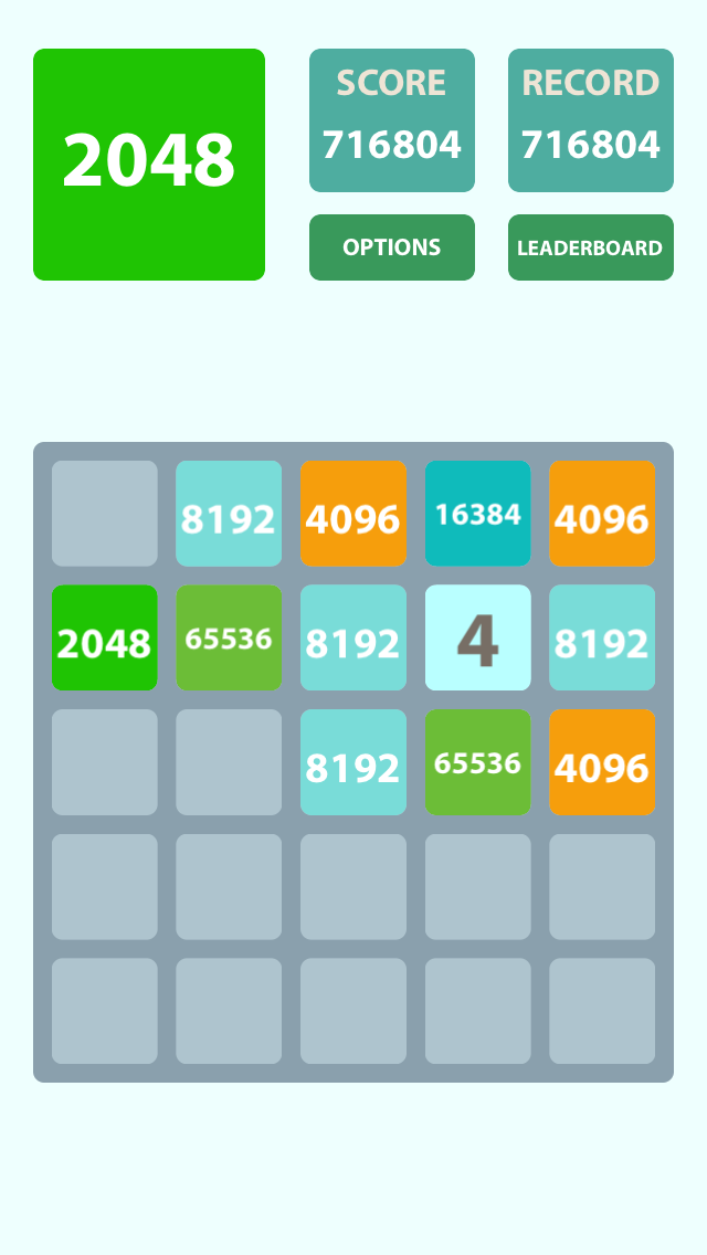 2048 5x5 Screenshot
