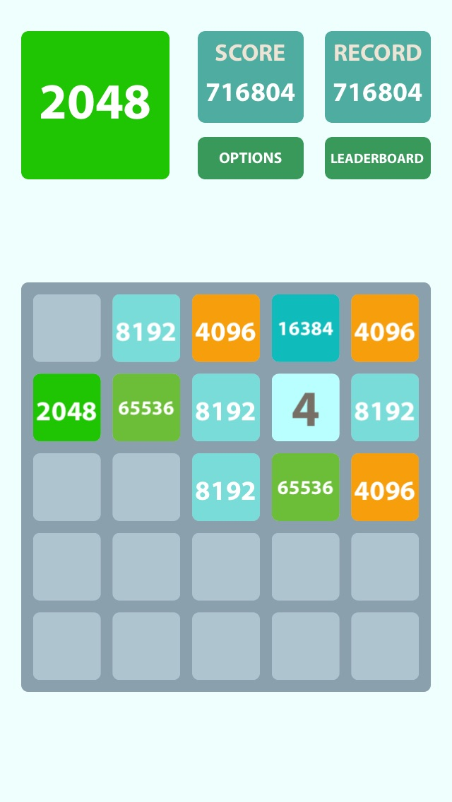 2048 5x5 Screenshot
