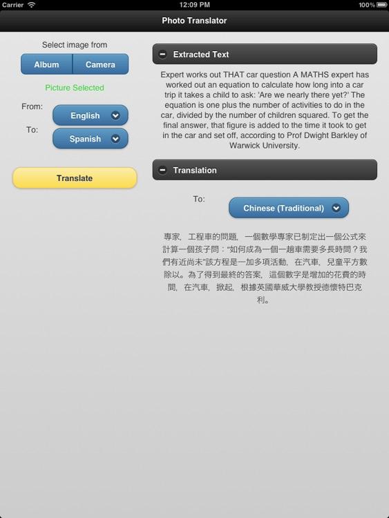 Photo Translator for iPad Pro screenshot-3