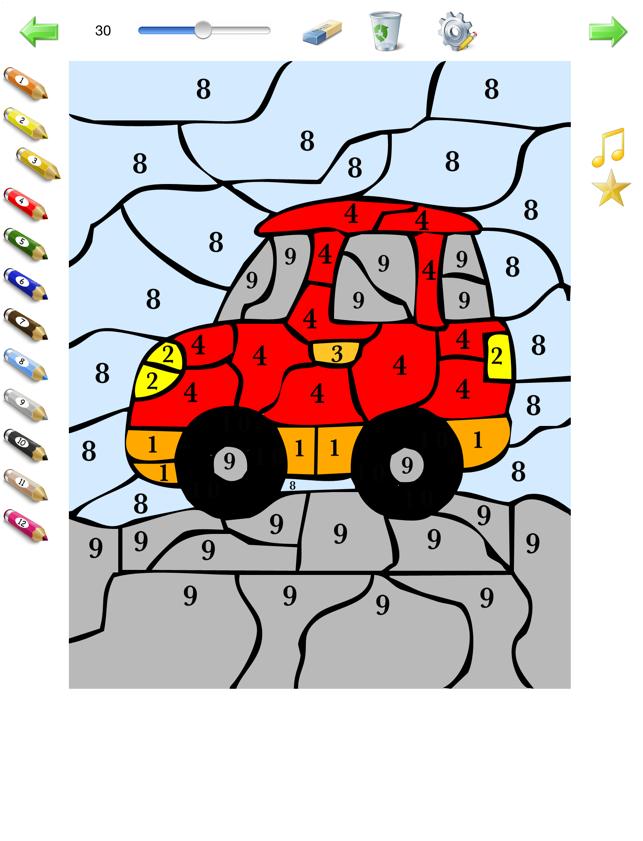 Kleurplaten Inkleuren Op Ipad.Kleuren Op Nummer Voor Kinderen Kleurplaten Genummerd In De App Store