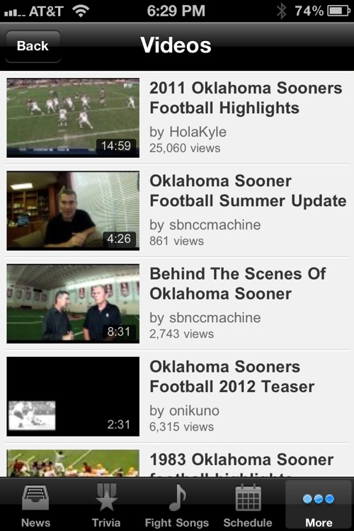 Oklahoma Sooners Football Trivia and More screenshot-4