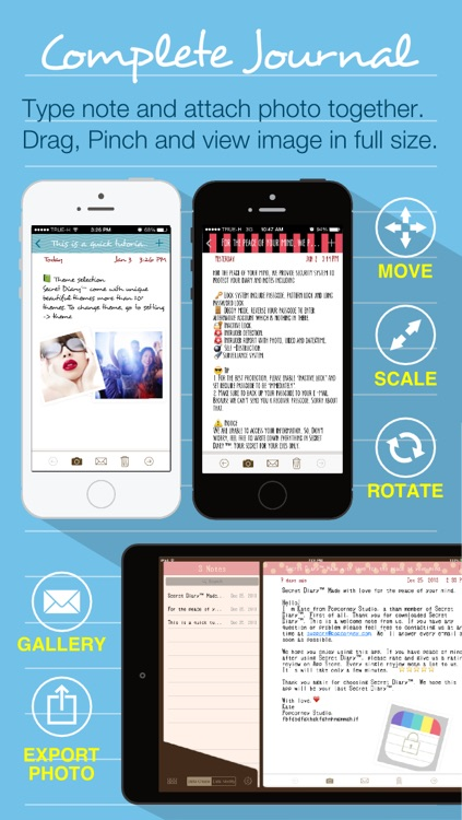 Secret Diary FREE - Private Journal and Write Notes with Photos